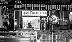 Reflected Vermouth (pukilin) Tags: madrid city portrait bw reflection self 35mm mirror calle yo palace espejo reflejo palacio vermouth nikond3100