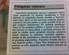 Polaganje vijenaca 25.godišnjica (Novi List 10.05.2012)