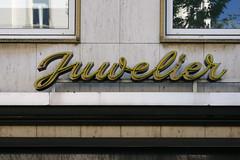 Juwelier Jos. Lutz seit 1797 (detail) I (Florian Hardwig) Tags: storefront neonsign lettering script mainz jeweller