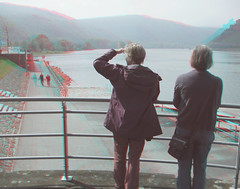 Where the Nahe joins the Rhine (katyfernleigh) Tags: 3d anaglyph stereo spm twincamera ixus70 sdmsync