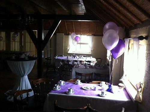 Tafeldecoratie 3ballonnen Johannahoeve Capelle aan den IJssel