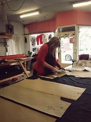 Work room (*Jilltoo) Tags: newzealand woman fashion shop studio design clothing designer patterns fabric nz workroom cutting getty dressmaking dressdesign