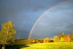 Sunset-Rainbow - Explore # 225-15.05.12 (picaddict) Tags: sunset evening abend rainbow garten regenbogen onexplore pluwig