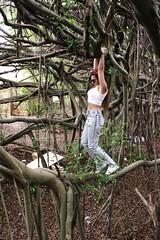 (Ambivalentannie) Tags: life red tree fashion vines guess swing adventure jeans swinging bandana acidwash treeoflife