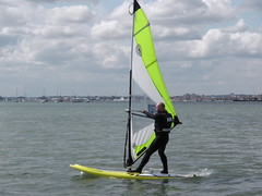 Brand new windsurfing equipment at the Poole Windsurfing School