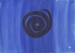 Snake behind curtain (Freda'sArtistPaintingPages) Tags: dark paint acrylic glow paints