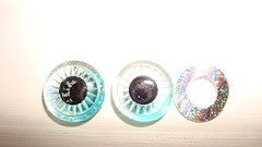 Eye Chips Light Blue with or without glitter for Blythe Doll