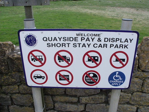 West Bay - Harbour - sign - Welcome to Quayside Pay & Display Short Stay Car Park