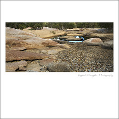 Dry river bed and reflections (Perfectoarts) Tags: rockformations dimbulah ingriddouglasphotography rockpoolreflections walshriverbed