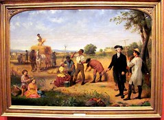 Washington as a Farmer at Mount Vernon, 1851, Junius Brutus Stearns (Universal Pops (David)) Tags: playing art history cup water field cane museum painting children wagon toys virginia bucket labor richmond canvas american oil africanamerican blacks farmer sickle hay agriculture pitchfork georgewashington adopted economics mountvernon slaves postagestamp overseer vmfa virginiamuseumoffinearts juniusbrutusstearns