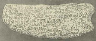 TABLILLA  XXXVIII. OBVERSE OF EASTER ISLAND TABLET,