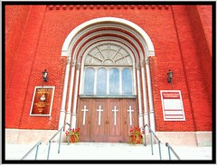 Syracuse NY ~Assumption Church Entrance~ Historical (Onasill ~ Visiting ~ Will Return Comments Soon.) Tags: door tower home church architecture catholic roman district entrance register romanesque assumption preservation revival nrhp onasill