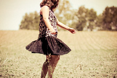 You make me dance like a fool (wingardium leviosa.) Tags: old trees summer selfportrait girl smile field grass self vintage hair outside beans amazing hands arms legs spin grain tan skirt leopard twirl tanktop remote swirl simple filmish youmakemesmile canonrebelxsi