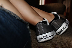 Day 147 - Converse (tiffany michele) Tags: white selfportrait grey shoes legs converse allstar 147 chucktaylors chucktaylor day147 lowtops project365 lowtop 365dayproject