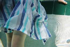 (alyleighcarter) Tags: summer film water pool leaves foot agua kodak disposable selfbeach