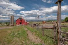 Gateway to the Rockies (Rocky Pix) Tags: barn highway pasture handheld nikkor michel pastoral f28 agriculure farmgate f28g normalzoom 66hygienelongmontbouldercountycoloradofoothillsrockiesrockypixrockymountainpixw mcintoshlohrfarmagriculturalmuseum kiteleyf181200thsec24mm2470mm