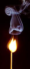 Day 61 - Match-010.jpg (JohnCrider) Tags: fire smoke match stick