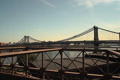 "Manhattan Bridge from Brooklyn Bridge-70s • <a style=""font-size:0.8em;"" href=""http://www.flickr.com/photos/59137086@N08/7358406988/"" target=""_blank"">View on Flickr</a>"