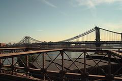 "Manhattan Bridge from Brooklyn Bridge-70s • <a style=""font-size:0.8em;"" href=""http://www.flickr.com/photos/59137086@N08/7358406988/"" target=""_blank"">View on Flickr</a>"