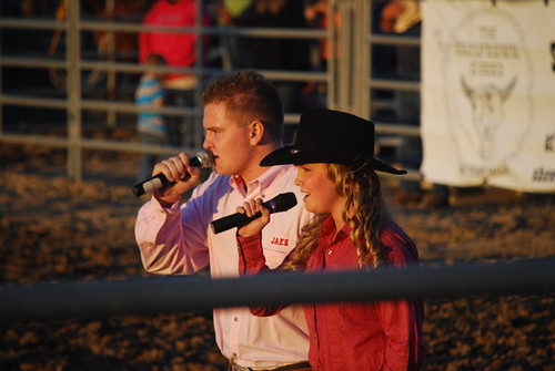 Jacob Nelson Molly Wineland National Anthem PRCA Showdown Rodeo