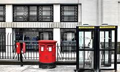 communication (Harry Halibut) Tags: telephone box boxes buckingham palace road victoria belgravia london black pillar post duoule red stamp machine broken open coach station art deco facade window stonework railings pavement 2012andrewpettigrew allrightsreserved colourbysoftwarelaziness anglesanglesangles london1205021577 rotrossorougerood