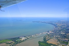 Approaching Marblehead (SkySNAPS Photography) Tags: ohio summer june flying nikon lakeerie aviation aerial greatlakes 162 cessna 2012 islandtour lsa generalaviation d3000 lakeerieislands skycatcher lightsportaviation aperture3 n444um