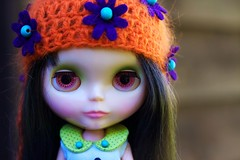 We love BC hats (prettyinthekitchen) Tags: hat doll bc kenner blythe brunette 1972 bambina carabina