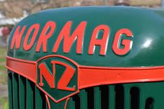 Normag NZ (Florian Hardwig) Tags: tractor berlin logo lettering raised nameplate guesswhereberlin cartype normag