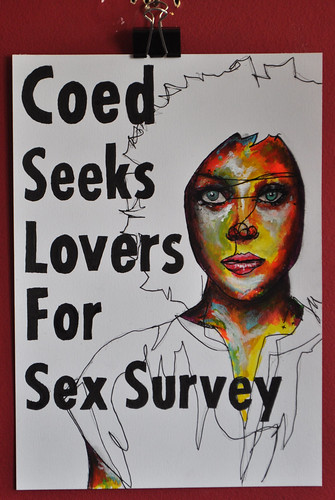 Coed seeks lovers for sex survey