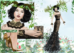 GLITTER - Majestic (Rehana MiSS SLVietnam, Face of CHOP ZUEY 2015) Tags: love fashion glitter secondlife pritty laboheme rehana penumbra slink chopzuey rehanaseljan ieqed