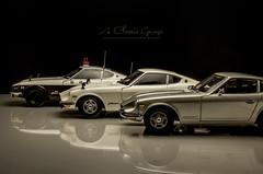 1970's Datsun/Nissan Fairlady Z Series (aJ Leong) Tags: 1970s datsun nissan fairlady z series 118 kyosho s30 240z fairladyz