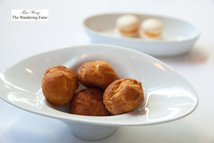 Gougeres and pimento cheese macarons (thewanderingeater) Tags: atlanta dinner georgia buckhead finedining restauranteugene