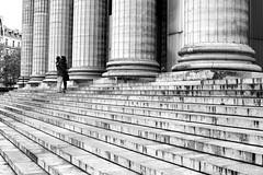 At the bottom of the columns (pascalcolin1) Tags: blackandwhite paris kissing noiretblanc columns streetview marches colonnes photoderue baise urbanarte photopascalcolin