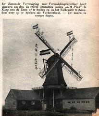 Panorama -stad amsterdam Koog a de Zaan oliemolen Het Pink. b (janwillemsen) Tags: molen panoramastadamsterdammagazineillustration1938 koogadezaan