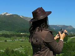 Casting For Winnetou (Master Of Pixels :o)) Tags: camera sky woman mountain nature ecology grass lady croatia lika mountaineering cowgirl frau cowboyhat priroda kamera kubus hrvatska nebo trava    amazingplace republikahrvatska   panasoniccamera amazingnature planinarenje planina ekologija  beautifulplace velebit ena  republicofcroatia purenature planine  cowgirldress cowboyoutfit   cowgirloutfit  bakeotarije   likosenjskaupanija cowboyimage   cowboydress canonpowershotsx60hs shootingwithcamera  yashajakovsky istapriroda  kaubojskieir  kaubojskoodijelo snimanjeskamerom cowgirlimage vidikovackubus