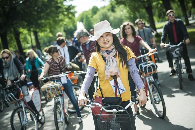 Sunshine at the bike tour