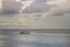 The Fishing Boat (yafit770) Tags: ocean sunset sea sky green clouds canon boat fishing t5 serene panama cinta costera challengeyouwinner
