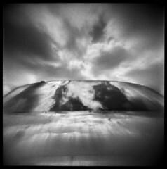 Bryce #5 (LowerDarnley) Tags: sky southwest reflection glass car clouds utah nationalpark windshield brycecanyon flippedlens agfaisoly holgalens modifiedcamera transplantedlens