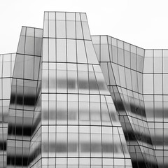 New York Architecture #284 (Ximo Michavila) Tags: york city nyc sky urban usa building glass lines architecture square grey day graphic cloudy curves monochromatic 11 ximo archidose archdaily archiref michavilanew