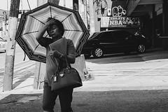 181/365 (Nico Francisco) Tags: street blackandwhite woman umbrella 365 pasig