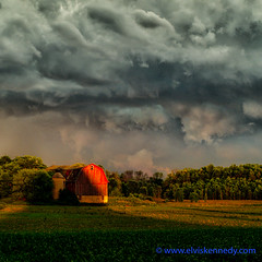 100 Days of Summer #35 - Sunset, Storm, Barn (elviskennedy) Tags: trees windows sunset red sky storm tree green eye germantown up field rain weather wisconsin clouds barn digital sunrise landscape outside photography grey evening high corn dynamic nimbus outdoor farm sony low scenic elvis windy front jackson silo cap cumulus late crops thunderstorm inversion farmer lightning tornado range wi kennedy hdr highdynamicrange goldenhour barnyard sensor cirrus unstable severe thunderhead lightroom warn coldlight tornadic cumulusnimbus rockfield mesocyclone dryline rx1 hdrpro wwwelviskennedycom elviskennedy rx1r rx1rii rx1rm2 dscrx1rii