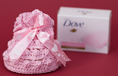 gehaakt zeepbuideltje dove (arina23111963) Tags: pink soap crochet popcornstitch