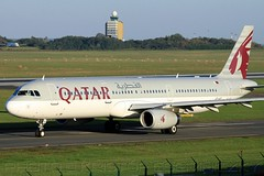 Qatar Airways A321 with Budapest Airport Control Tower in the background (KristofCs) Tags: tower control taxi budapest airbus bud departure takeoff runway hamad oryx doh doha qatar ferihegy a321 oneworld lhbp a7aid