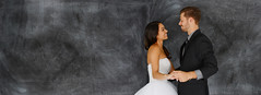 Bride and Groom at Wedding (thuvienanh89) Tags: wedding woman white man male love loving female happy groom bride dance couple day married dress unitedstatesofamerica young marriage relationship reception tuxedo caucasian