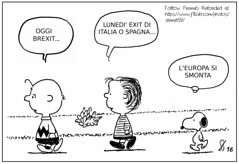 Brexit (Peanuts Reloaded) Tags: europa inghilterra europe unioneeuropea europeanunion brexit italia spagna italiaspagna italy spain italyvsspain uefa comics drawing snoopy charliebrown linusvanpelt referendum campionatieuropeidicalcio linus theresamay