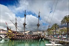 genova (heavenuphere) Tags: genova genua genoa liguria italia italy europe city porto antico old port harbour pirate ship neptune 24105mm