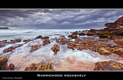 Warriewood Rockshelf (John_Armytage) Tags: seascape beach clouds sunrise canon movement rocks australia nsw northernbeaches warriewood canon1635lf28 warriewoodbeach canon5dmark11