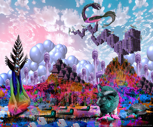 LARRY CARLSON, Hallowtide, c-print 65 x 45in., 2011.