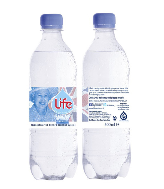Life water Diamond Jubilee limited edition design