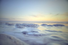 Foamy sunset (kennynoddin9n) Tags: ocean sunset summer beach bay spring bright foam kenny hdr foamy noddin